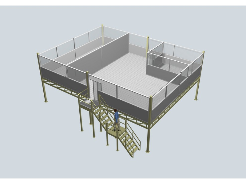 Mezzanine floor office